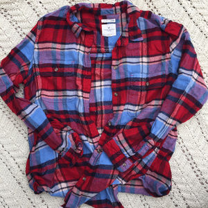 American Eagle Women's Oversized Flannel Shirt XL